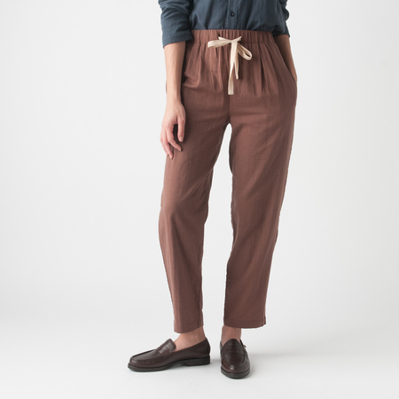 WRK-SHP Tied Pants in Coca