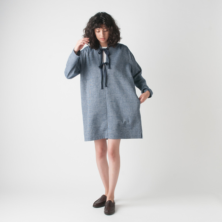 WRK-SHP Casa Waffle Tunic in Blue