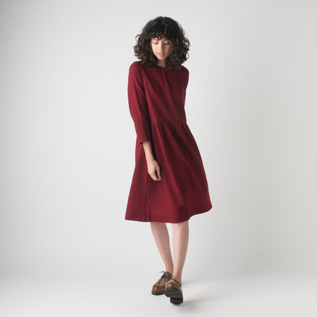 WRK-SHP Studio Button Dress in Berry