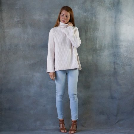 Line the Label Uma Turtleneck Sweater in Ballet Slipper