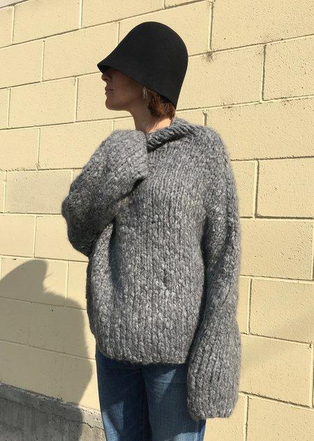 Lauren Manoogian Cashmere Pyramid Pullover - Grey Melange