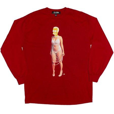 Unisex Skim Milk Homer Rose Long Sleeve T-Shirt