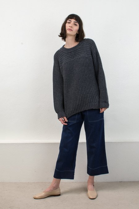 Micaela Greg Melange Grey Arch Sweater