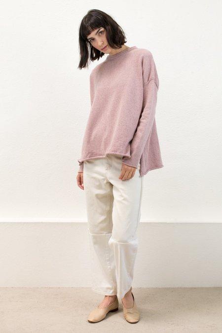 Micaela Greg Speckle Rose Hi Low Sweater