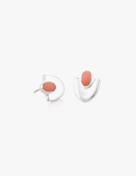 Dream Collective Deco Studs #4 in Pink Coral
