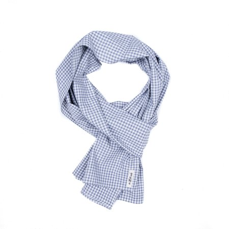 The Hill-side Scarf - Covert Gingham Chambray
