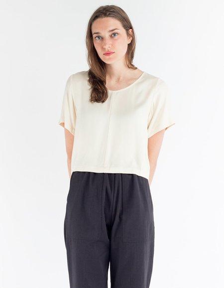 Ali Golden Woven T-Shirt - Cream