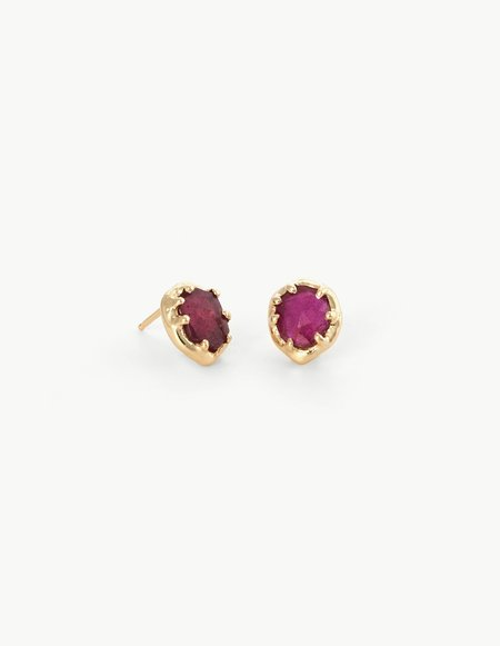 Dream Collective Ruby Organic Amulet Studs