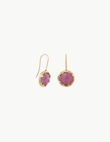 Kathryn Bentley Sapphire Organic Amulet Earrings