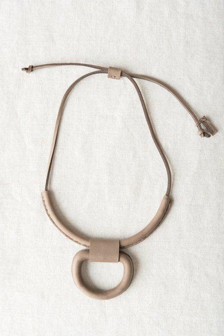 Crescioni Union Necklace in Pewter