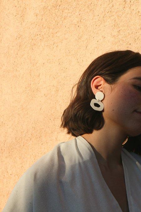 Four Eyes Ceramics Small Cutout Dangle Earrings