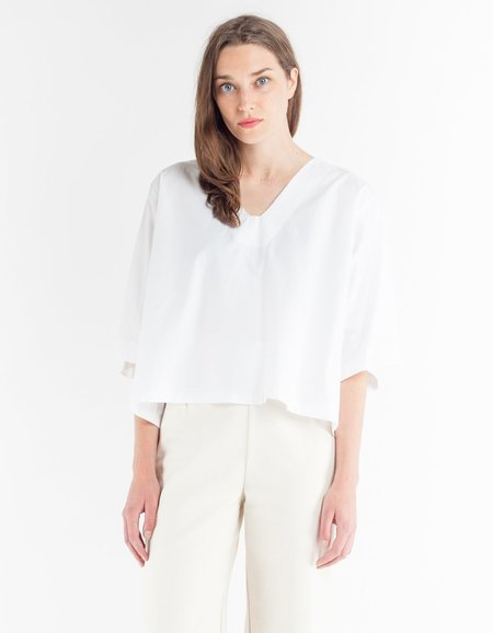 Sunja Link Long Sleeve Top - White