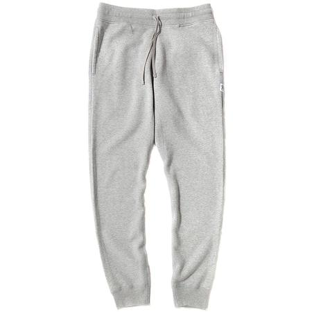 Reigning Champ Slim Mesh Double Knit Sweatpants - Heather Grey