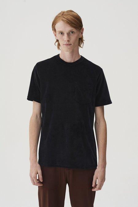 CMMN SWDN Bren Velour T-Shirt - Black