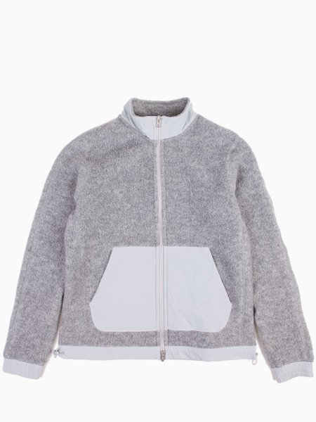 Reigning Champ Shearling Fleece Trail Jacket - Heather Grey