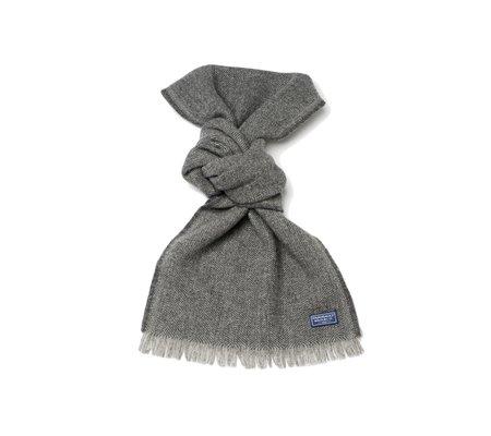 Faribault Woolen Mill Annandale Herringbone Wool Scarf - Charcoal