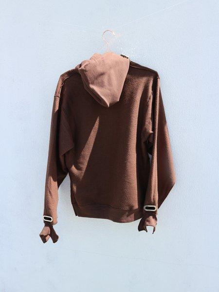 Collina Strada Grommet Sweathoodie with Embellishment - Brown