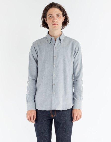 18 Waits Dylan Shirt White Herringbone Flannel