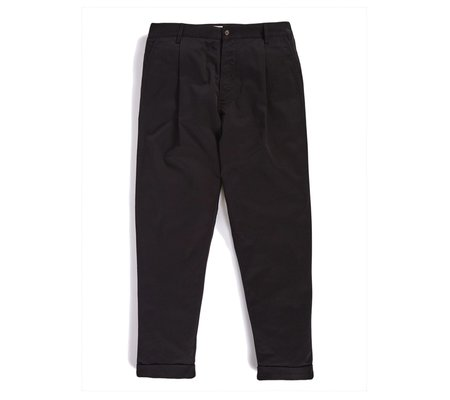 Universal Works Pleated Pant - Black Twill