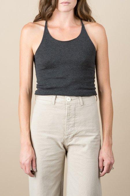 Evam Eva Cotton Cashmere Camisole In Charcoal