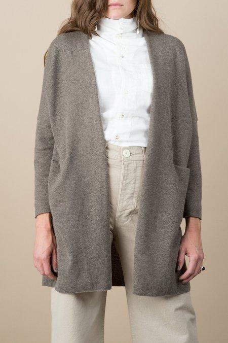 Evam Eva Wool Robe In Brown
