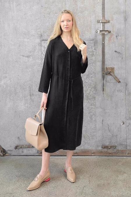 Ozma Mal Pais Dress - Black Cupro
