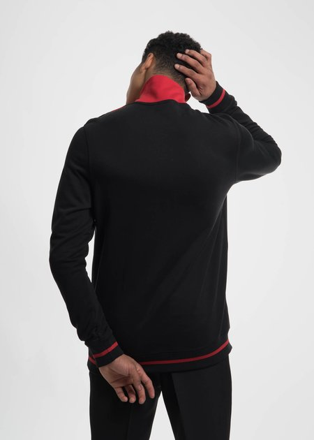 CMMN SWDN Black and Red Victor Turtle Neck