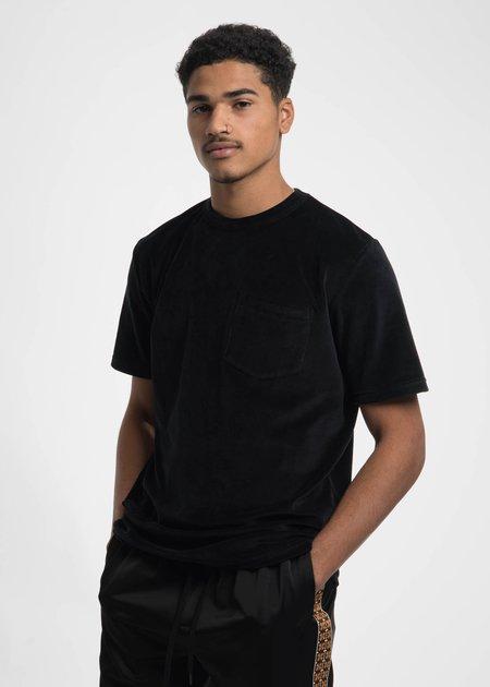 CMMN SWDN Black Bren Velour Pocket T-Shirt