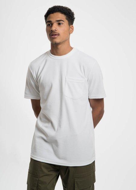 CMMN SWDN White Bren Velour Pocket T-Shirt