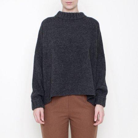 7115 by Szeki Classic Crewneck Sweater - Gray