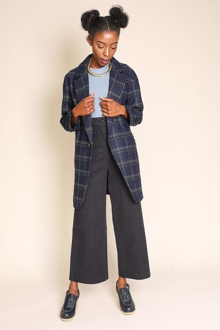Creatures of Comfort Nicolas Jacket in Blue Plaid
