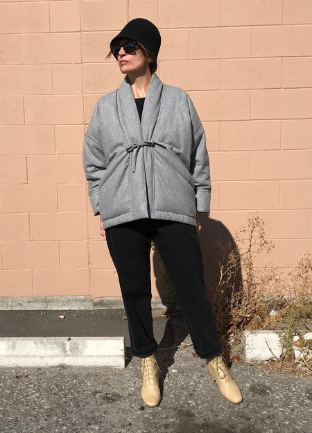 7115 by Szeki Sumo Wool Coat - Grey