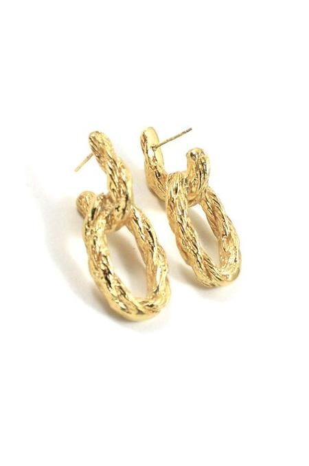 Merewif Lou II Earrings - Gold Plated Brass