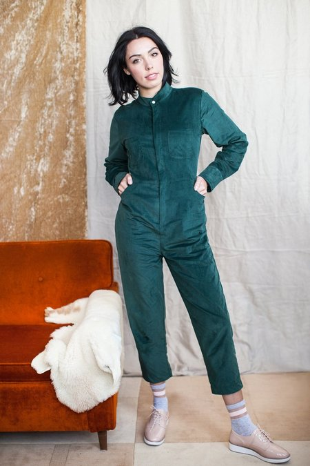 Maggie Jayne Flight Suit - Forest Corduroy