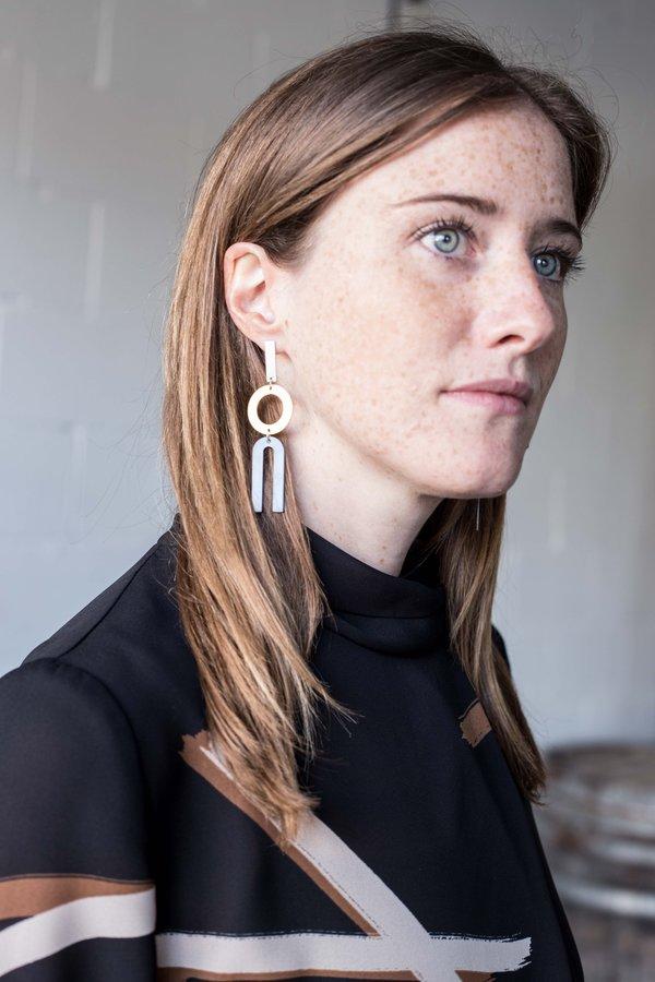 Natalie Joy Divided Line Earrings