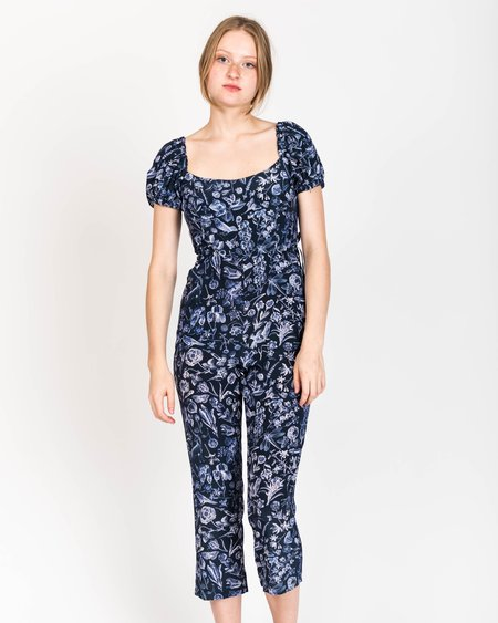Samantha Pleet Juliet Silk Floral Jumpsuit