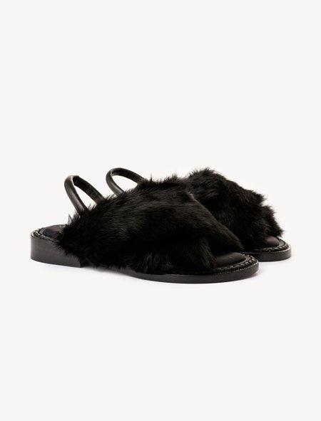Robert Clergerie Womens Black Bloss Sandal