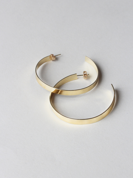 Giant Lion Hoop Earrings - Gold