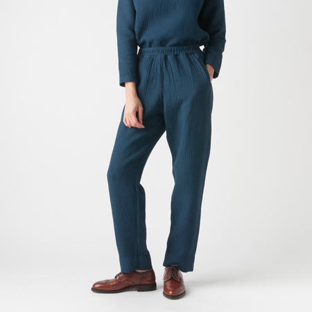 Black Crane Dual Canvas Pant in Midnight