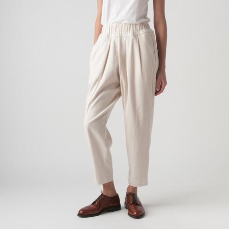 Black Crane Carpenter Pant in Cream