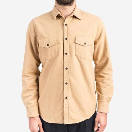 Portuguese Flannel Campo Flannel Shirt - Camel