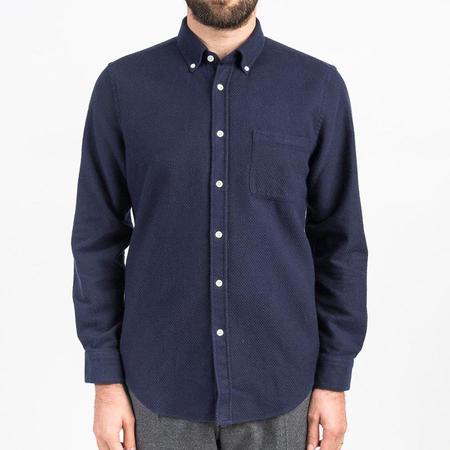 Portuguese Flannel Suave Flannel Shirt - Blue
