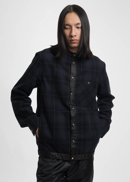 Public School Navy Ouray Plaid Shirt Jacket