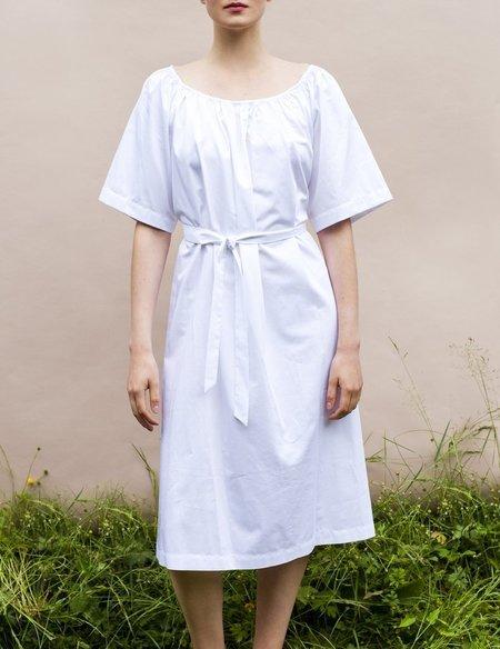 Sunja Link Gathered Neck Dress - Navy