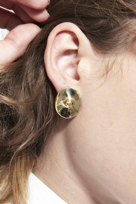 Quarry Votive Earrings - Brass