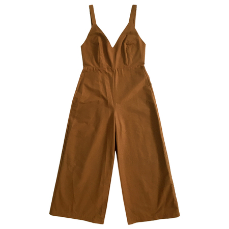 Ali Golden Grosgrain Jumpsuit - Caramel
