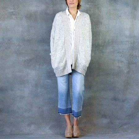 "Line the Label ""Eleanor"" Oversized Cardigan in Blizzard"