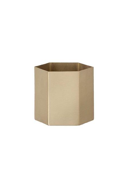 Ferm Living Brass Hexagon Pot Large