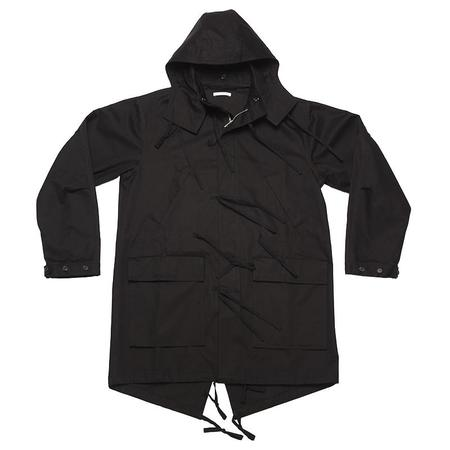 s.k. manor hill Fishtail Parka - Black Cotton (Water Resistant)