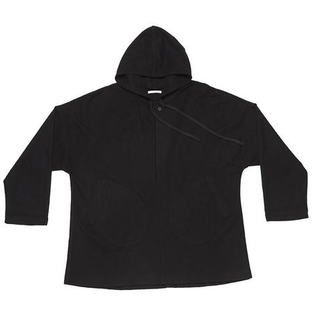 s.k. manor hill Trek Hoody -  Black Cotton/Wool